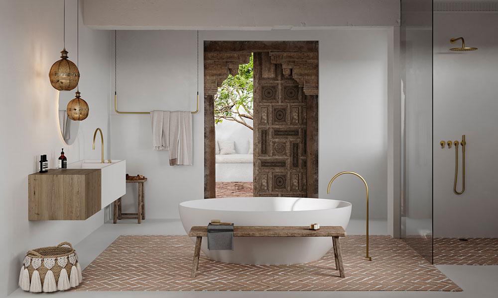 Une salle de bain ethnique aux inspirations marocaines